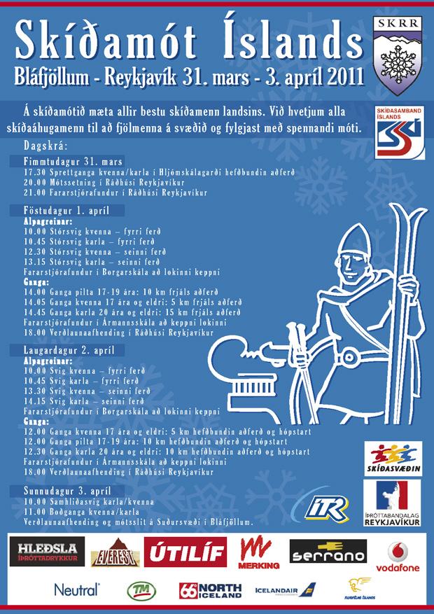 Dagskrá SKÍ 31. mars til 3. apríl 2011